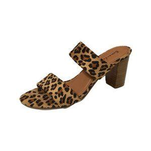Bonnibel Brown Leopard Double Strap Polina Sandal